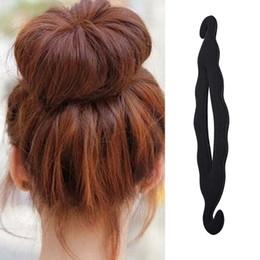 Foam bun accessory online shopping - Women Magic Hair Style Tool Quick Sponge Braiders Hairdisk Donut Maker Fashion Salon Tool Foam Bun Curler Hairstyle Accessories