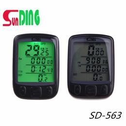 $enCountryForm.capitalKeyWord UK - SD-563 Multifunction Bicycle Computer Road MTB Bike Handlebar Wireless Stopwatch Waterproof LCD Display Odometer Speedometer #721996