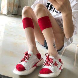 $enCountryForm.capitalKeyWord Australia - New Women Hot Thin Ice Silk Transparent Crystal Silk Knee High Socks Girl JP School Style Harajuku Spring Summer Innovate Casual