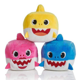 $enCountryForm.capitalKeyWord NZ - 2019 New Plush toys 3 Color Baby Shark toys Children Cartoon Music Shark Pinkfong Animal Toy kids Christmas Gift