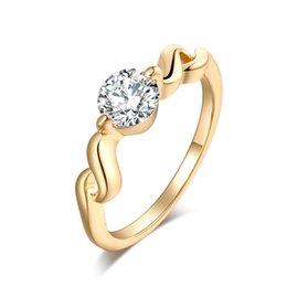 Wedding Ring Types Australia - Wholesale Cubic Zirconia Rings For Women Engagement Surround S Type Slender Delicate Trendy Zinc Alloy Rings Wedding Jewelry Bijouterie