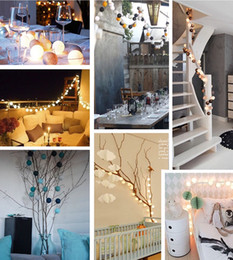 Chinese  LED cotton ball lamp string Christmas day fashion creative art decoration bedroom small lights flashing lights all over the sky star gifts t manufacturers