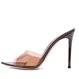 $enCountryForm.capitalKeyWord UK - Slippers High Heels Sandals Slides For Women 2019 Sexy Summer Fashion Candy Transparent Heels Flip Flops Female Elegant PVC Jelly Shoes
