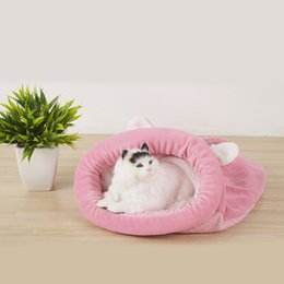 Brown kennels online shopping - Cat Bed Soft Warm Kennel Cat Dog House Pet Mats Puppy Cushion Sleeping Bag Bed Funny Small Animal Pet Nest Products