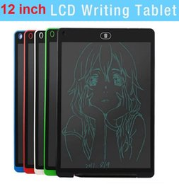 $enCountryForm.capitalKeyWord Australia - HOT 12 inch LCD Writing Tablet Touch Pad Office Electronic Board Magnetic Fridge Message Stylus Kids Birthday Christmas Day Gifts dhl