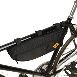 waterproof bike panniers Canada - Cycling Bicycle Bags Top Tube Front Frame Bag Waterproof MTB Road Triangle Pannier Dirt-resistant Bike Accessories Bags Pouch