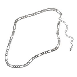 sterling silver link chain wholesale NZ - Fine Jewelry Authentic 925 Sterling Silver Chain Necklaces For Women New Simple Style 5mm Flat Silver Necklace