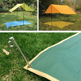 pad floor Canada - Waterproof Damp-proof Camping Mat Folding Portable Reusable Outdoor Tent Picnic Beach Floor Pad Blanket Car Motorcycle Cover