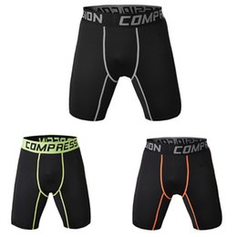 Wear Compression Shorts Australia - Men Sports Gym Compression Wear Under Base Layer Short Pants Athletic Tights half trousers