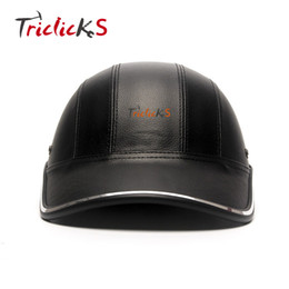 Cap Motorcycle Helmet Australia - Triclicks Motorcycle Bike Scooter Half Helmet Baseball Cap Style Safety Hard Hat Open Face Man Helmets Protection Half Shell New