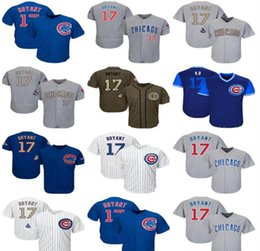 salute service jerseys NZ - 2019 Men Women Youth ChicagoCubs Jersey 17 Bryant baseball Jerseys White Gray Grey Blue Gold Green Salute to Service Players Weekend like