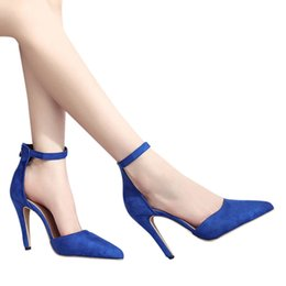 $enCountryForm.capitalKeyWord NZ - Designer Dress Shoes Women Fashion High Heel Ladies Sandals Ankle High Heels Block Party Open Toe Pointed Toe Party Single #g2