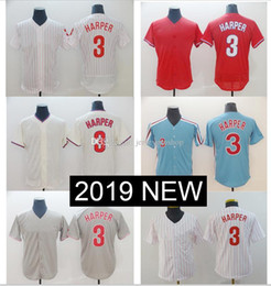 2ad6d367d 3 Bryce Haper Jersey Philadelpha Blue white Cream Red Grey Flexbase Cool  Base baseball Jerseys New style Phillies dropshipping