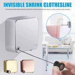 Wholesale Clothesline Wire Shrink Indoor Drying Rack Retractable Clothes Line Nail-free Invisible J99Store