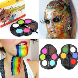 Painting Glitter Temporary Australia - Factory Body Paint 6 Colors Eye Paint Palette UV Glowing Face Painting Temporary Tattoo Pigment Best Multicolor Series Body Eyeshadow Art