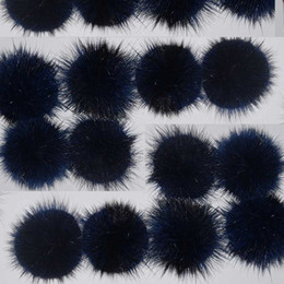 mink hair ball accessories UK - Natural Mink Fur Ball 6cm DIY Fur Material home textile material Genuine Mink Hair Pompoms Real Fur Bobbles