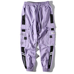 spring tracking Australia - Harem Joggers Color Patchwork Men Sweatpants Cotton Track Streetwear Hip Hop Pants Side Splice Spring Unisex Harajuku Streetwear