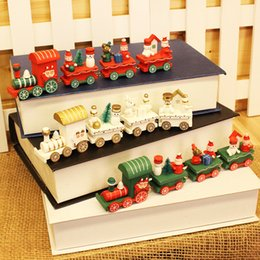 electric toy train tracks Australia - Children small train track toy electric light christmas train toys baby christmas decorations for home 2019