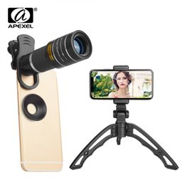 $enCountryForm.capitalKeyWord Australia - Apexel 20x Telephoto Zoom Lens Portable 20x Monocular Telescope Lentes With Selfie Tripod For Iphone Samsung Smartphones 20xjj04 J190704