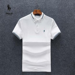 Fiber Italy NZ - Top Italy Mens Polo Shirt Brands Male Short Sleeve Casual Slim Solid Color Deer Embroidery Polo shirt M-3XL