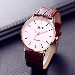 watch business for men Australia - New Fashion Leather Strap Mens Watches Business Classic Quartz Wristwatches For Man Male Students Clock Drop Shipping