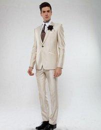 Grey tuxedo styles online shopping - New Style Groom Tuxedos Champagne Groomsmen Peak Lapel Best Man Suit Wedding Men Suits Bridegroom Jacket Pants Tie A725