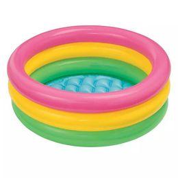 $enCountryForm.capitalKeyWord Australia - MUQGEW Kids Pool Toddler Baby Children Rainbow Round Safe Infant Inflatable Pool Swimming piscina zwembad basen baby