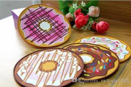 Modern Drink Coasters Australia - Advance book new 13cm Table Cup Mat Decor Silicone Coffee Drink Placemat Tableware Spinning Retro Vinyl Donut Drinks Coasters
