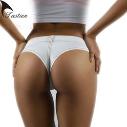 Sexy european clubwear online shopping - TASTIEN Sexy Women Shorts New Fashion Summer Denim Cotton Short Low Waist Stretch Mini Super Jeans Shorts Clubwear Colors T5190617