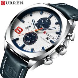 Curren Men Sports Leather Watches Australia - 2019 Men's Watches Top Brand Luxury CURREN New Leather Quartz Watch Men Sport Wristwatch Relogio Masculino Male Hour