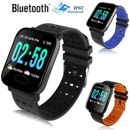 Italian Smart Watch NZ - Bluetooth Smart Watch A6 Heart Rate Blood Pressure Sleep Monitor Fitness Tracker Waterproof Sport Bracelet Smartwatch For IOS Android Phone