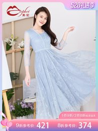 Fairy2019 Spring Dress Lace Xia Xinkuan Suit-dress Temperamento Auto-coltivazione Thin Lady Of Quality A Word Long Skirt 931501