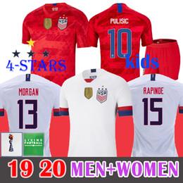 5dd8970ed0 4 Estrela 2019 Copa Do Mundo Das Mulheres EUA Camisa de Futebol RAPINOE  PASMISTA DEMPSEY BRADLEY MORGAN Futebol Uniforme de Futebol DOS Estados  UNIDOS DOS ...