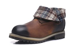 $enCountryForm.capitalKeyWord Australia - TOP BRAND TIMBERAND ROLL-TOP BOOTS BROWN FOR MEN CHEAP FOLD-DOWN WORK BOOTS OUTLET SALE MENS WATERPROOF COW LEATHER HIKING SHOE SHIPPED FREE