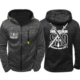 $enCountryForm.capitalKeyWord Australia - Sword Art Online SAO Cosplay Print Men Sports Casual Wear Hoodies Zipper Fashion Trend Jacquard Fall Sweatshirts Spring Autumn Jacket Coat