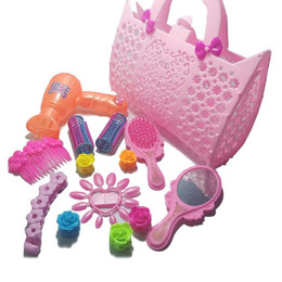 role play toys UK - A B Girl Dress Up Makeup Toy Set Child Love Beauty Play Plastic Portable Makeup Set Exercise Ability Ability Role Playing Props