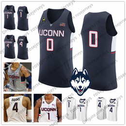 numbered basketball jerseys Australia - Custom Uconn Huskies College Basketball white navy gray Connecticut Stitched Any Name Number #4 Jalen Adams 1 Christian Vital Jerseys S-3XL