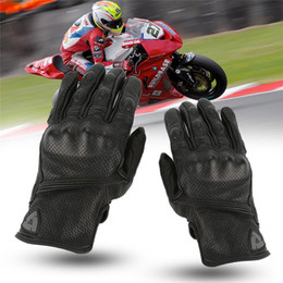 $enCountryForm.capitalKeyWord Australia - Unisex Breathable Touch Screen Motorcycle Gloves Black Leather Motocross Protection Gunes Moto GP Offroad Gloves S M L XL
