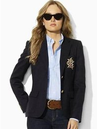 $enCountryForm.capitalKeyWord NZ - Global Fashion Women Casual Polo Jacket Blazer Single Breasted Cotton Long Sleeve Slim Jackets Winter Business Coat Black