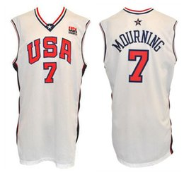 0ed3dfc94 2000 Olympic Team USA Alonzo Mourning  7 Retro Basketball Jersey Mens  Stitched Custom Any Number Name Jerseys