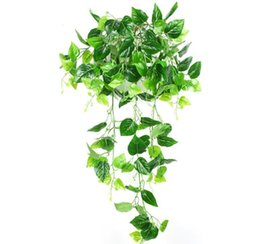 artificial plants for green walls NZ - Artificial Vines green Leave Ivy Vines For Wall Hanging Decoration artificial plants grape leaves Boston ivy leaves vines home decorations