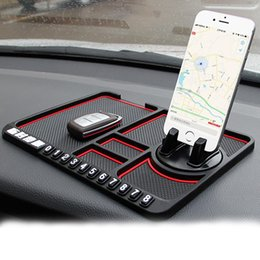 Car storage Cell phone online shopping - Car Dashboard Anti Slip Pad For Cell Phone Keychains Glasses Cell Phone Stand Mount Holder Bracket storage Mat