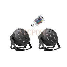 $enCountryForm.capitalKeyWord UK - 2Pcs lots 7x12w Remote Par lights Small Lens 7*12w RGBW 4 in 1 Fat Par Led With DMX512 Disco Lights Professional Stage Light