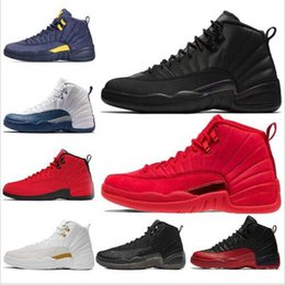 new concept e619d 801a3 2019 new 12 Gym Red 12s College Navy men basketball shoes Michigan WINGS bulls  Flu Game the master black white taxi Sports trainer sneakers