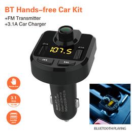 $enCountryForm.capitalKeyWord Australia - Car Accessorie Car Charger FM Transmitter Wireless Radio Adapter MP3 Player Plus USB charger Handsfree Bluetooth Kit