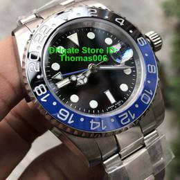 Best Brand watch Boxes online shopping - Best Quality V5 Version Movement Luxury Brand Watch Blue Ceramic Bezel Sapphire Glass SS Mens Watch Watches mm Original Box