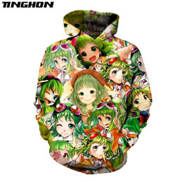 vocaloid girl cosplay 2020 - Comic Hoodies Gumi Vocaloid Kawaii Girls Pullovers Anime Fans Cosplay Streetwear Funny Cute Tops Jacket Plus Size XS 6XL