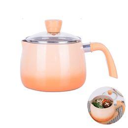 Stick potS online shopping - New Cute Soup Pan Small Milk Pot Non Stick Soup Pot Noodle Pan Baby Food Supplement Pot Kitchen Cooking Induction Gas Universal