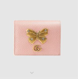 decorative plate holders UK - leather Butterfly decorative 499361 card holder WALLET CHAIN WALLETS PURSE Shoulder Bags Crossbody Bag Belt Bags Mini Bags Clutches Exotics