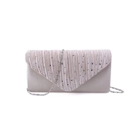$enCountryForm.capitalKeyWord UK - Fashion 2019 Rhinestone Satin Frosted Evening Clutch Bag Handbag Purse Crossbody Bag for Women Ladies Wedding Party Festival